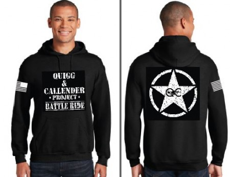 PTSD Quigg and Calendar Project Star Design Hooded Sweatshirt