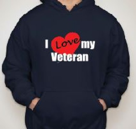 I  Love My Veteran Hooded Sweatshirt