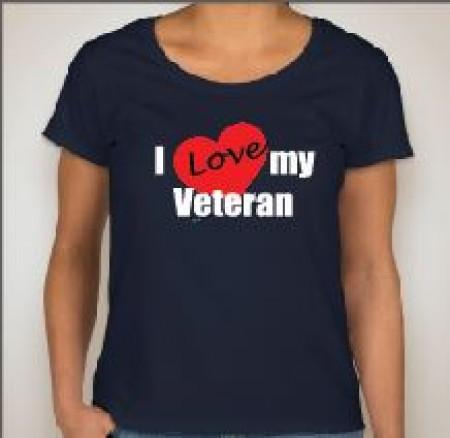 I Love My Vet Ladies Scoop Neck Soft Style Short Sleeve Tee