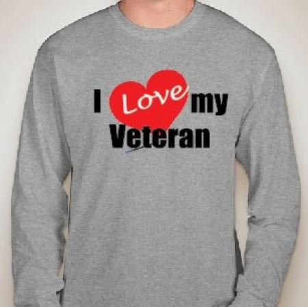 I Love My Veteran Long Sleeve Gildan Tee