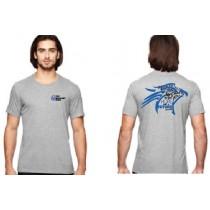 YFC Athletic Heather Gray Short Sleeve Tee Falcon Design