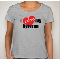I Love My Vet Ladies Scoop Neck Soft Style Short Sleeve Tee