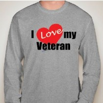 I Love My Veteran Long Sleeve Gildan Tee