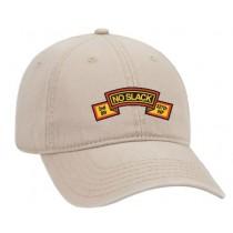 2-237 Khaki Hat  with No Slack Banner