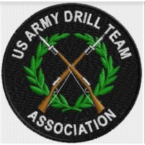 US Army Drill Team Association  Patch